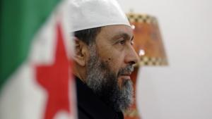 Abdallah Djaballah, leader of the Islamist FJD in front of party headquarters in Algeria (photo: AFP)