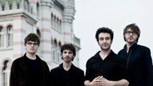 German jazz quartet Masaa; Rabih Lahoud is second from right (source: Traumton)
