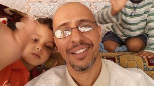 Mohamedou Ould Slahi with his family (photo: Emran Feroz)