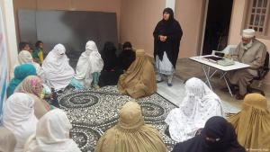 Tabassum Adnan talks to the female jirga (photo: Khwendo Jirga)