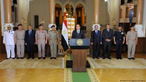 Egyptian President Abdul Fattah al-Sisi giving a statement to the press on 26.05.2017 in the wake of the Minya terrorist attack (photo: Reuters)