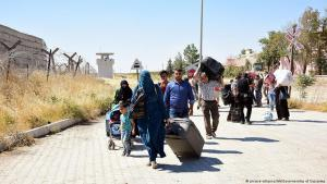 Syrian refugees at the Turkish-Syrian border in Gaziantep (photo: picture-alliance)