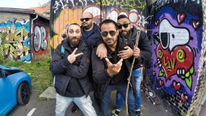 """Revolution Records"": El Temraz, Ahmed Rock II, Amr Czar and Rooney Rady (source: Facebook)"