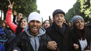 Unemployed university graduates in Tunis protest the lack of job opportunities (photo: Reuters/Zoubeir Souissi)