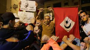 """Supporters of the """"Hirak El-Shaabi"""" (Popular Movement) in Al-Hoceima demonstrating against the imprisonment of their leader in June 2017 (photo: Reuters)"""