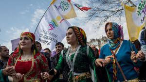 Kurds celebrating Nowruz Festival in Istanbul (photo: Chris McGrath/Getty Images)