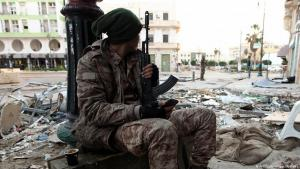 Soldier loyal to Al-Thani and Haftar in Benghazi, 2015 (photo: Abdullah Doma/AFP/Getty Images)