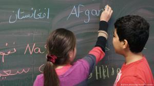 Refugee children in a German school (photo: picture alliance/dpa/Sputnik/I. Zarembo)