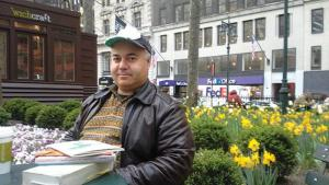 Osama Alomar was born in Damascus, Syria, in 1968 and now lives in Chicago. He is the author of three collections of short stories and a volume of poetry in Arabic (source: cityofasylum.org)