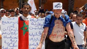 Protesters in Morocco demonstrate against the detention of Rif Movement activist Nasser Zefzafi (photo: Reuters)