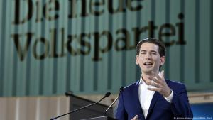 Sebastian Kurz, leader of Austria′s People′s Party (OVP), addresses the OVP party conference in Linz on 01.07.2017 (photo: dpa/picture-alliance)