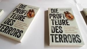 Cover of Markus Bickel′s ″ Die Profiteure des Terrors. Wie Deutschland an Kriegen verdient und arabische Diktaturen stärkt″ (published by Westend)