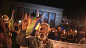 Protesting corruption and social deprivation in the north Moroccan town of Al-Hoceima (photo: Mosa′ab Elshamy/AP/dpa)