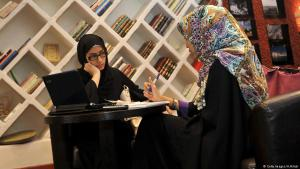 Saudi women in a book cafe in Jeddah (photo: Getty Images/A. Hilabi)