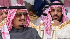 Saudi Crown Prince Mohammed bin Salman (right) together with Saudi Arabia′s King Salman (photo: picture-alliance/abaca)