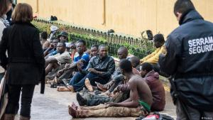 African refugees arrested on the border with Melilla (photo: Reuters)