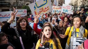 Arab women′s rights groups demonstrate on International Women′s Day in Cairo (photo: dpa/picture-alliance)