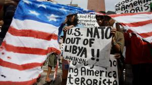 International protests against NATO military intervention in Libya (photo: AP)