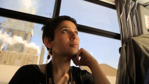 Film director Nadia Bouhmouch (source: justaplatform.com)