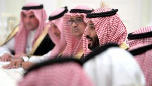 Crown Prince Mohammed bin Salman of Saudi Arabia, speaking (photo: dpa/picture-alliance)