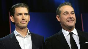 Austrian Chancellor Sebastian Kurz (left) and Heinz-Christian Strache (photo: dpa)