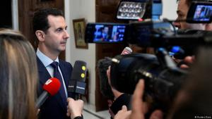 French television reporters interview Syriaʹs President Bashar al-Assad in Damascus (photo: Reuters/Sana)