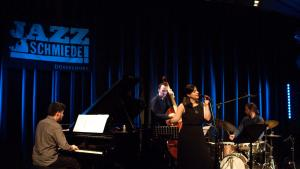 Ayca Mirac performs at Jazz Schmiede in Dusseldorf, 14 March 2018 (source: Facebook; photo: Michael Weilandt)