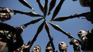Houthi followers in Sanaa, Yemen (photo: picture-alliance/AP)
