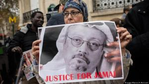 Solidarity demonstration for Jamal Khashoggi in front of the Saudi embassy in Paris (photo: Imago)