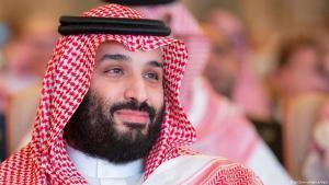 Crown Prince Mohammed bin Salman bin Abdulaziz Al Saud takes part in the investorsʹ conference on 28.10.2018 in Riyadh (photo: picture-alliance/dpa)