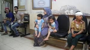 People in a hospital in the Syrian province of Idlib (photo: Getty Images/AFP/O. H. Kadour)