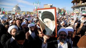 Khamenei supporters demonstrate their backing for the Supreme Leader and the Islamic Republic (photo: Reuters/Tasnim News Agency)