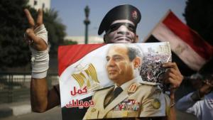 Electioneering for Abdul Fattah al-Sisi in Cairo (photo: AFP/Getty Images)