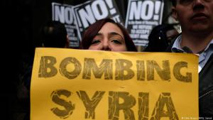 Protests in New York against U.S. airstrikes in Syria on 7 April 2017 (photo: Getty Images/AFP)
