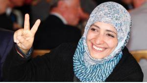 Yemeni Nobel Peace Prize laureate Tawakkul Karman (photo: AP)