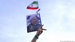 Female Hassan Rouhani supporter during a presidential election rally in Tehran on 16 May 2017 (photo: picture-alliance/AP)