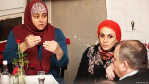 Film director Danya Alhamrani (left) and producer Dania Nassief (photo: Jordis Zahring)