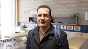 Tunisian Yassine Rihani spent three months working at the Education Centre for the Blind and Visually Impaired in Nuremberg (photo: ifa/Kuhnle)