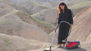 "Sisyphusʹ sister: ""Vacuum"" – video installation by Palestinian artist Raeda Saadeh (photo: Sharjah Art Foundation Collection)"