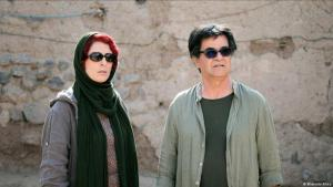 "Behnaz Jafari and Jafar Panahi in ""Three Faces"" (photo: Memento Films)"