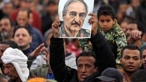Supporters of General Khalifa Haftar in Benghazi (photo: Reuters)