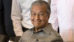 Mahathir Mohamad smiles during a press conference in Kuala Lumpur on 10 May 2018 (photo: picture-alliance/AP Photo/A. Hoe)