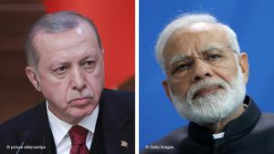 Turkey's President Recep Tayyip Erdogan (photo: Mikhail Metzel/TASS/dpa)| Indian Prime Minister Narendra Modi (photo: Sean Gallup/Getty Images)