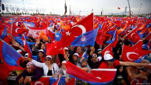 Supporters of Turkish President Tayyip Erdogan react during an election rally in Istanbul, Turkey, 17 June 2018 (photo: Reuters/Osman Orsal)