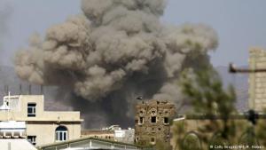 Airstrike on Al-Dailami airbase, Sana′a (photo: Getty Images/AFP/M. Huwais)