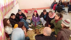 People attending a Sulha Peace Project meeting in January 2018 (photo: Yoav Peck)