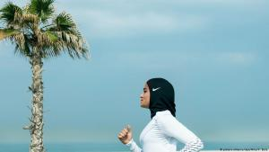 Egyptian athlete Manal Rostom (photo: picture-alliance/dpa/Nike/V. Balla)