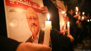 Turkish demonstrators protest the killing of Jamal Khashoggi (photo: picture-alliance/AA/M. E. Yildirim)