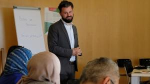 Islamic scholar and managing director of the AIWG, Jan Felix Engelhardt, during the 2018 AIWG doctoral students′ forum (photo: Dilruba Kam)