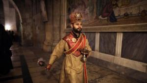 "If you follow in the footsteps of the Lord, you have feelings that cannot be explained,"" says the 26-year-old Armenian Orthodox priest. ""All these are holy places for us"""
